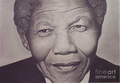 Drawing - Nelson Mandela by Wil Golden