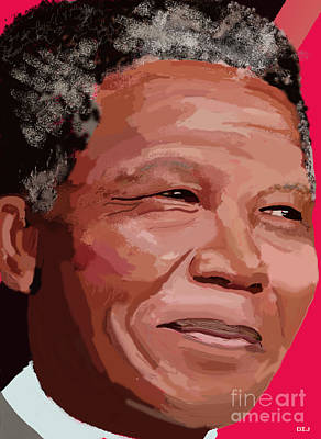 Digital Art - Nelson Rolihlahla Mandela by David Jackson