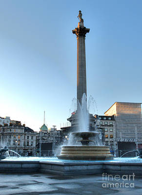 Photograph - Nelson's Column In Trafalgar Square by Deborah Smolinske