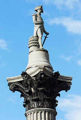 Military Bronze Photograph - Nelson's Column Statue by Mark Thomas