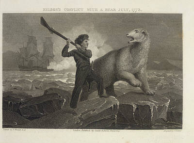 Lord Admiral Nelson Photograph - Nelson's Conflict With A Bear by British Library