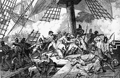 Hms Victory Photograph - Nelson's Death At Trafalgar by Collection Abecasis