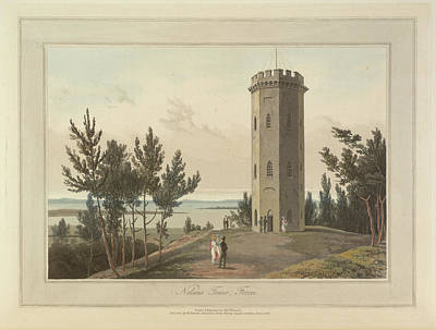 Nelson's Tower At Forres Town Art Print