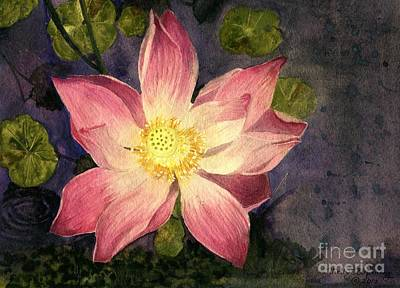 Painting - Nelumbo Nucifera II by Melly Terpening
