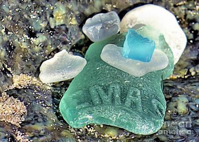 Photograph - Nemasket Bottle Sea Glass by Janice Drew