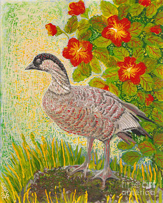 Reverse Acrylic On Plexiglass Painting - Nene by Anna Skaradzinska