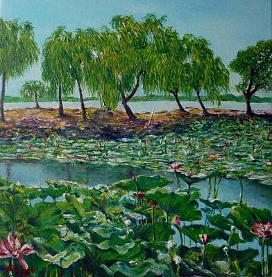 Lilly Pond Painting - Nenufares by Angel de Paz