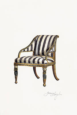 Painting - Neoclassical Armchair by Jazmin Angeles
