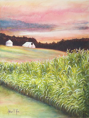 Art Print featuring the painting Neola Corn 2 by Arthur Fix