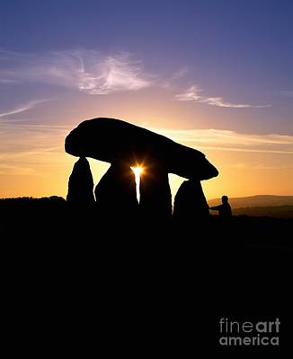 Megalith Photograph - Neolithic Burial Chamber, Wales by Martin Bond
