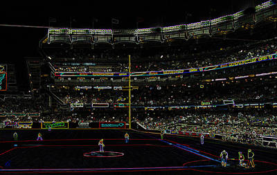 Photograph - Neon Baseball Stadium by Chris Thomas