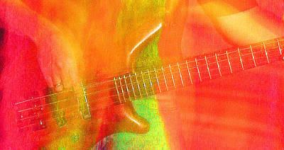 Neon Bass Fusion Print by James Hammen