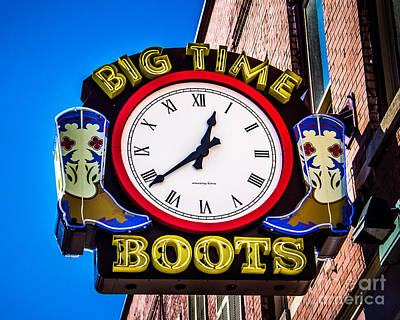 Neon Boots Art Print by Perry Webster