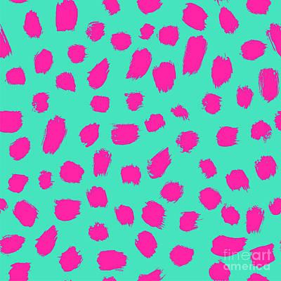 Gift Wall Art - Digital Art - Neon Brush Seamless Pattern Background by Faitotoro