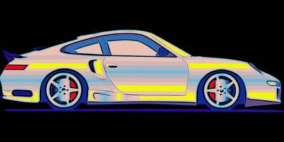 Painting - Neon Carrera Dream by Florian Rodarte