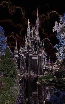 Neon Castle Art Print