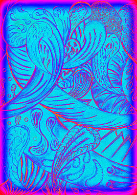 Digital Art - Neon Cell Life. by Kenneth Clarke