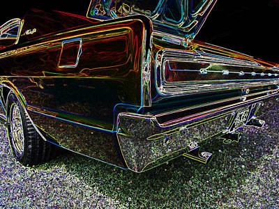 Photograph - Neon Charger by Sarah Lamoureux