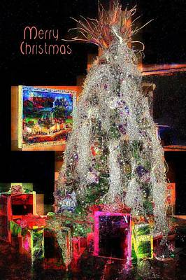 Photograph - Neon Christmas by Jodie Marie Anne Richardson Traugott          aka jm-ART