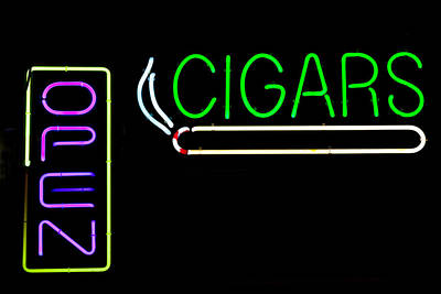 Photograph - Neon Cigar by Keith Swango
