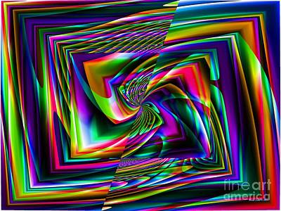 Digital Art - Neon Colors In Abstract Design by Annie Zeno