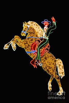 Photograph - Neon Cowboy by David Davis