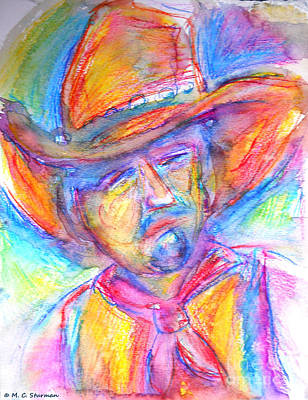 Painting - Neon Cowboy by M C Sturman
