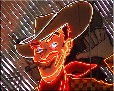 Photograph - Neon Cowboy Of  Las Vegas by Duane McCullough