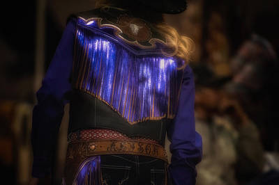 Photograph - Neon Cowgirl by Joan Herwig