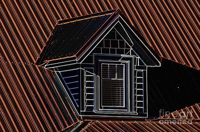 Photograph - Neon Dormer by Les Palenik