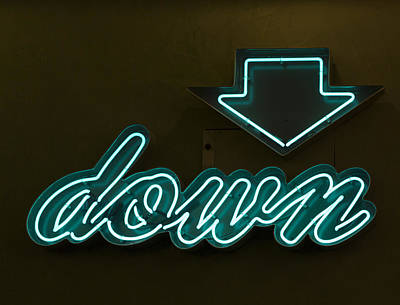 Photograph - Neon Down by Scott Campbell