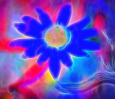 Neon Colors Digital Art - Neon Flower by Dan Sproul