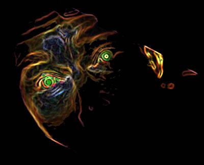 Digital Art - Neon - Green Eyes by Photo Shirts