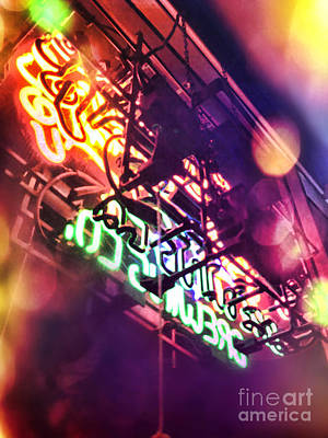 Neon Art Print by HD Connelly