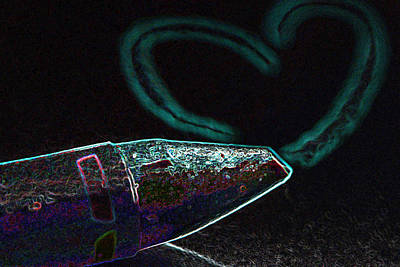 Photograph - Neon Heart by Bill Owen