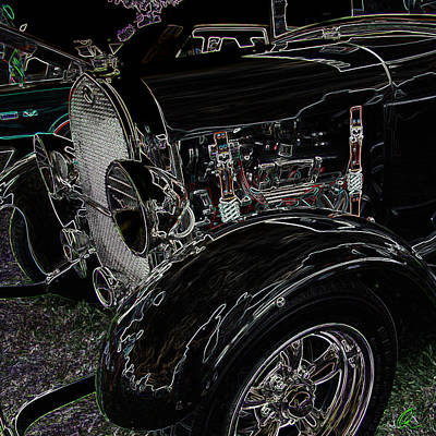 Photograph - Neon Hot Rod by Chris Thomas