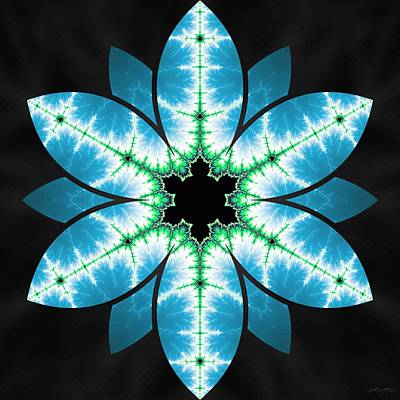 Digital Art - Neon Ice by Derek Gedney