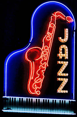 Photograph - Neon Jazz by Nadalyn Larsen