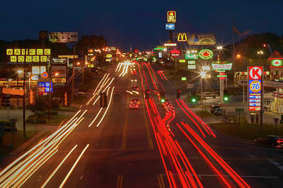 Neon Lights Along Highway 22 In Central Art Print
