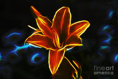 Photograph - Neon Lily by Ian Mitchell