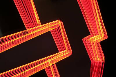 Photograph - Neon Maze by Ric Bascobert