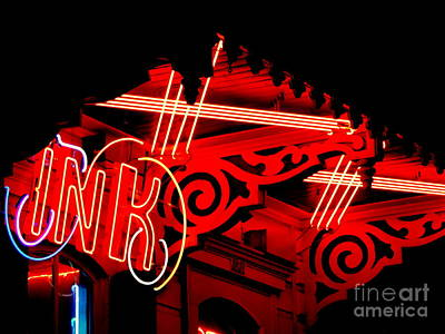 Photograph - New Orleans Neon On St. Charles Avenue  by Michael Hoard