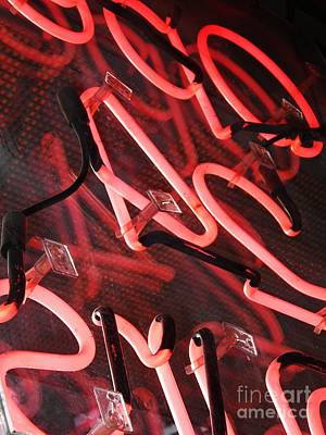 Photograph - Neon Red by Sarah Loft