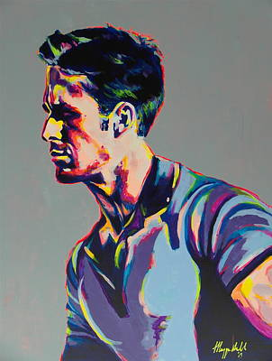 Gosling Painting - Neon Ryan Gosling by Miss Anna Hall