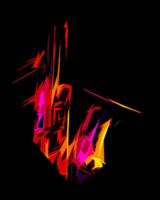Neon Sax Art Print