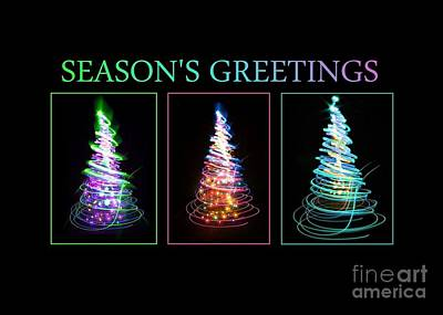 Digital Art - Neon Seasons Greetings by JH Designs