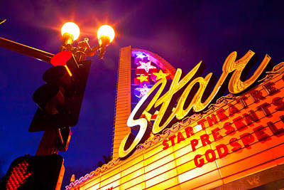 Photograph - Neon Sign - Star Theatre by Ben Graham