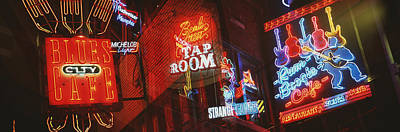 Neon Signs, Beale Street, Memphis Art Print by Panoramic Images