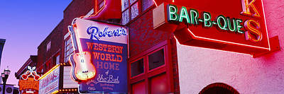 Nashville Sign Photograph - Neon Signs On Building, Nashville by Panoramic Images