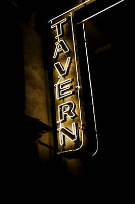 Photograph - Neon Tavern Sign by John Stephens